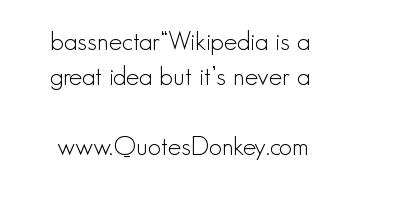Wikipedia quote #1