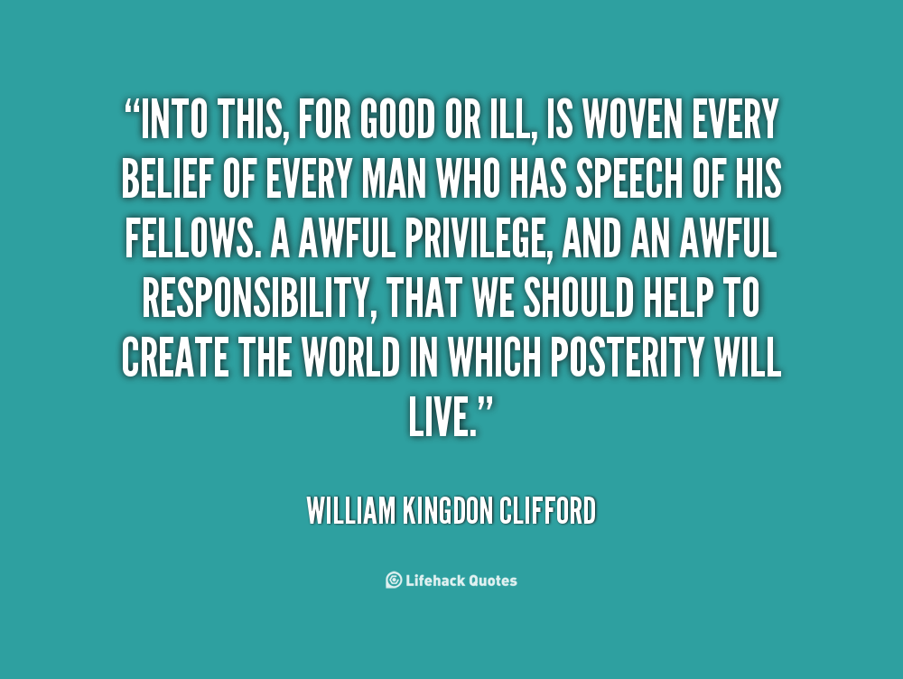 William Kingdon Clifford's quote #1