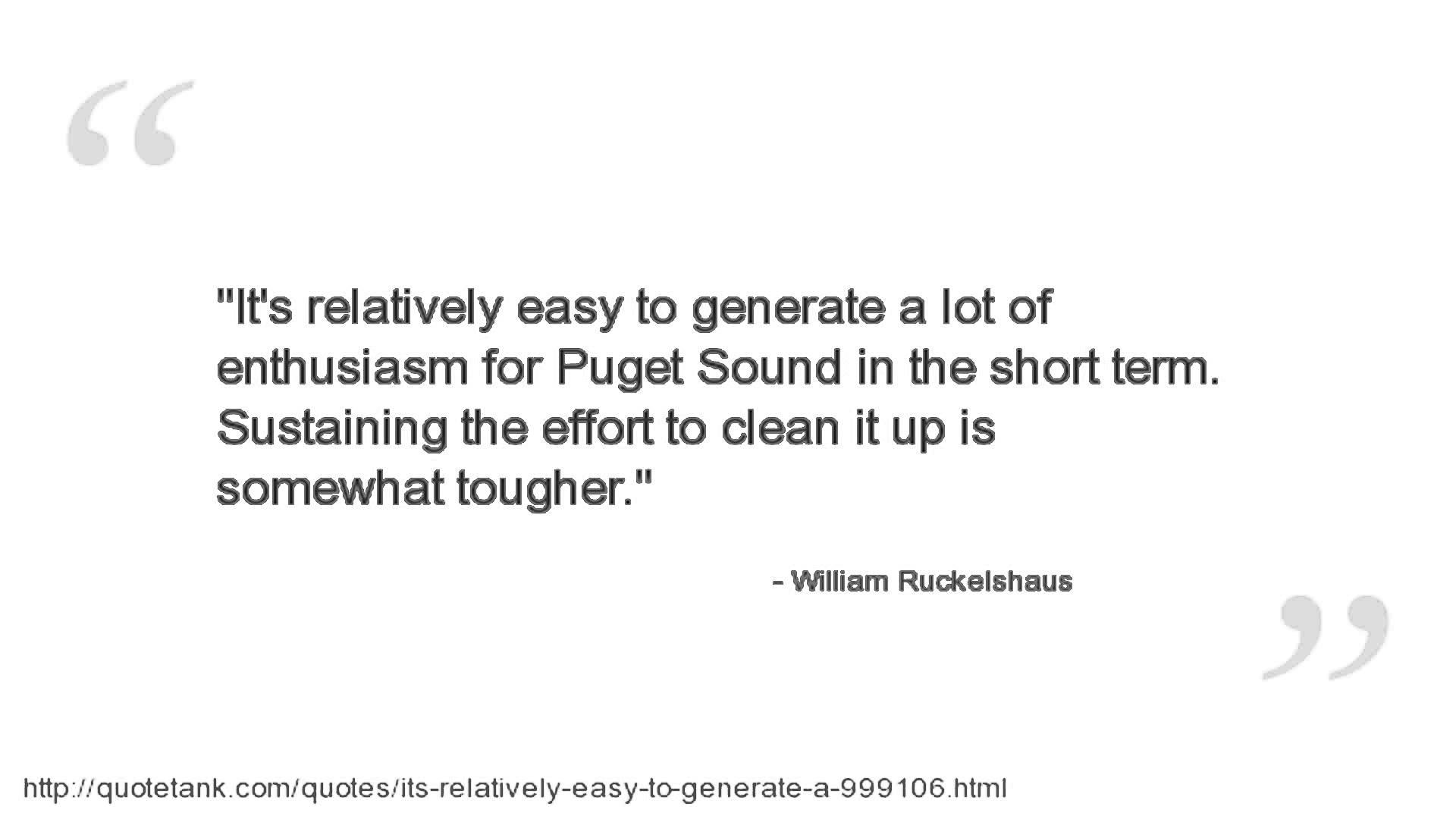 William Ruckelshaus's quote #2
