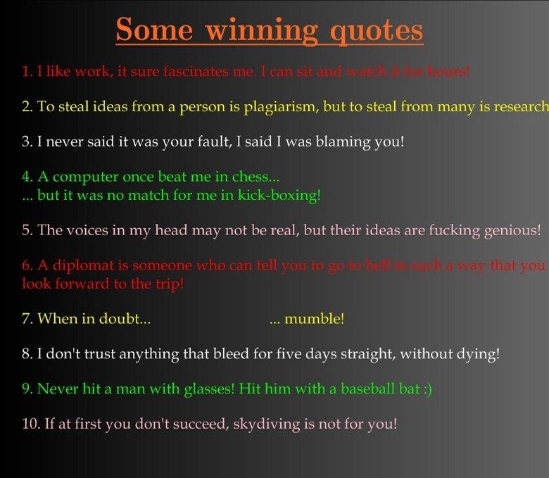 Winning quote #4