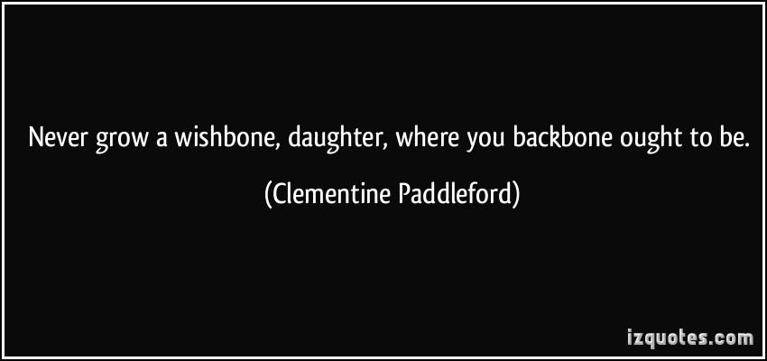 Wishbone quote #1