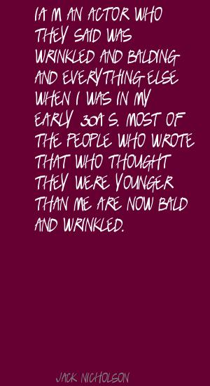 Wrinkled quote #1