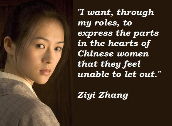 Ziyi Zhang's quote #4