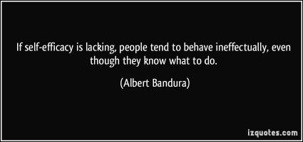 Albert Bandura's quote