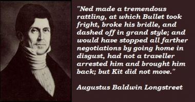 Augustus Baldwin Longstreet's quote #5