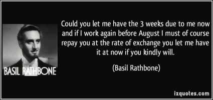 Basil Rathbone's quote #2