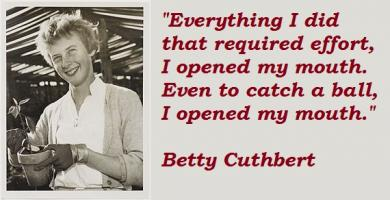 Betty Cuthbert's quote #4