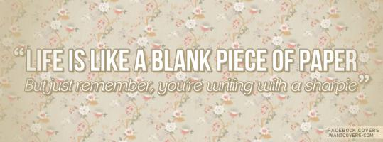 Blank Paper quote