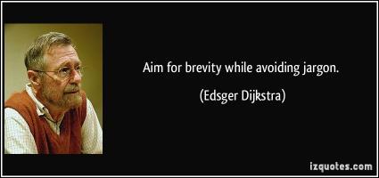 Brevity quote #1