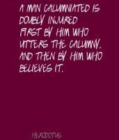 Calumny quote #1