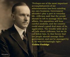 Calvin Coolidge's quote