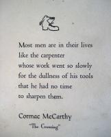 Cormac McCarthy's quote
