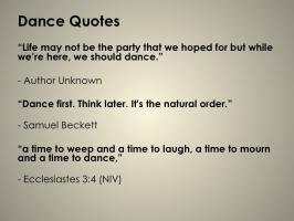 Dances quote #3
