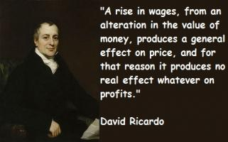 David Ricardo's quote