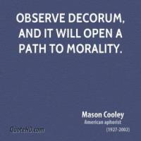 Decorum quote #1