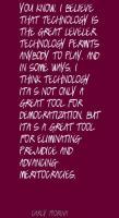Democratization quote