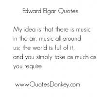 Edward Elgar's quote