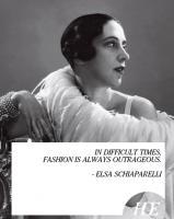 Elsa Schiaparelli's quote