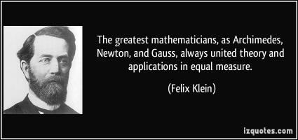 Felix Klein's quote #2