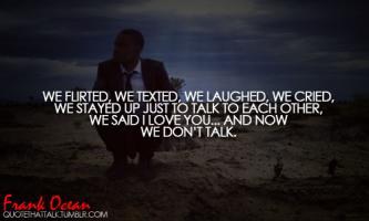 Frank Ocean's quote