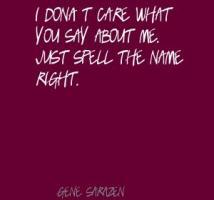 Gene Sarazen's quote #1