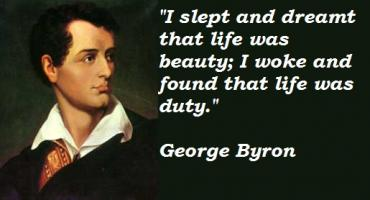 George Byron's quote