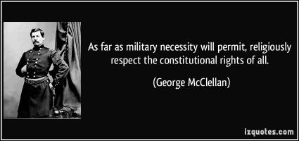 George McClellan's quote