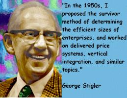 George Stigler's quote