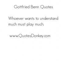 Gottfried Benn's quote
