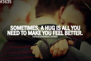 Hugging quote