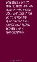 Hypochondriac quote #2