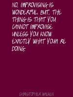 Improvising quote #2
