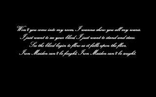 Iron Maiden quote #2