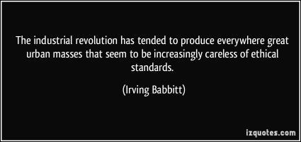 Irving Babbitt's quote