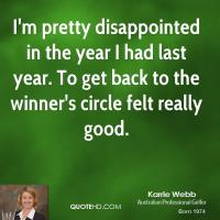 Karrie Webb's quote