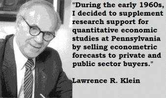 Lawrence R. Klein's quote #5