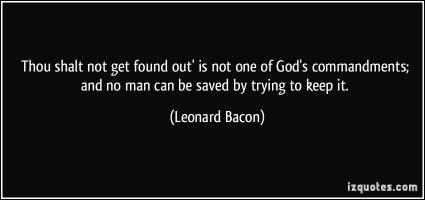 Leonard Bacon's quote