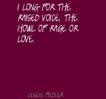 Leslie Fiedler's quote