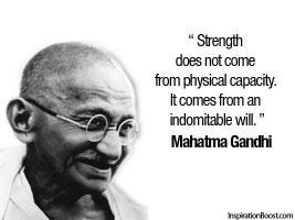 Mahatma Gandhi's quote