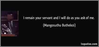 Mangosuthu Buthelezi's quote