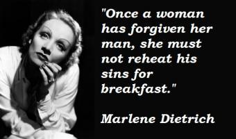 Marlene Dietrich's quote