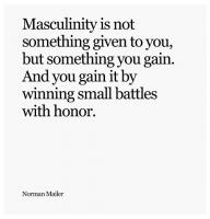 Masculinity quote #2