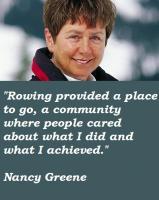 Nancy Greene's quote
