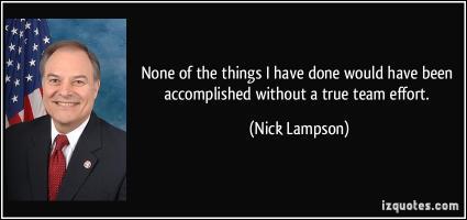 Nick Lampson's quote