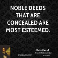 Noble Deeds quote