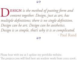 Paul Rand's quote