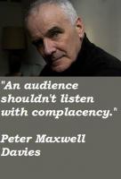Peter Maxwell Davies's quote