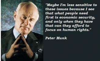 Peter Munk's quote