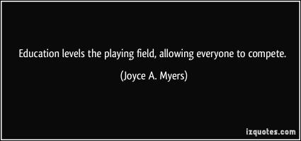 Playing Field quote #2