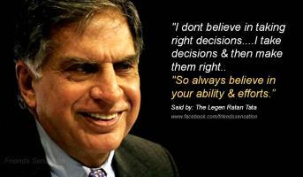 Ratan Tata's quote
